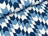 Swafing Modalsweat New York dunkelblau-Rauchblau-weiß by