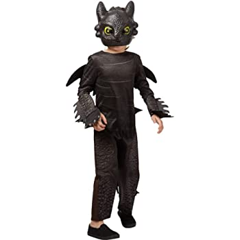 George Official DreamWorks Licensed How To Train Your Dragon fancy dress Toothless Costume Age 5-6 Years with Wings & Tail