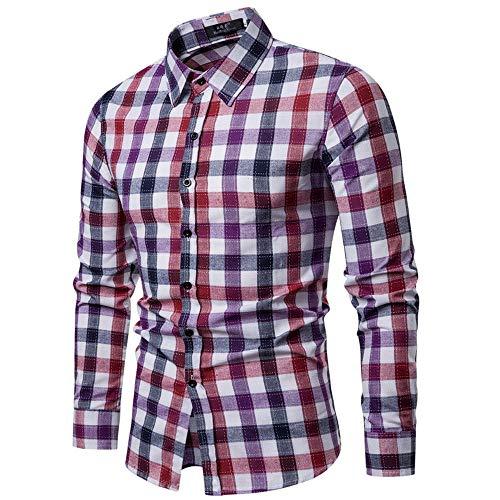 In vendita uomo casuale colorato verificato camicia con lungo maniche moda tendenza biouse camicia giacche uomo elegante blazer,abiti