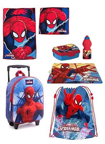 Spiderman zainetto zaino trolley in 3d, sacca sport, set colazione merenda scuola materna asilo escursioni tempo libero