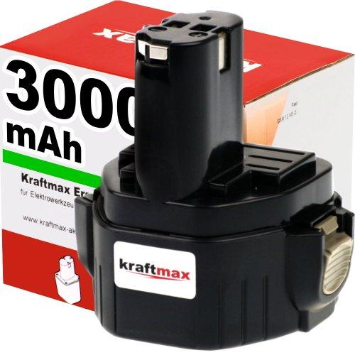 Preisvergleich Produktbild Akku für MAKITA Bohrschrauber 6314D - 12V / 3000mAh / Ni-MH - Profiqualität mit frischen Panasonic-Zellen