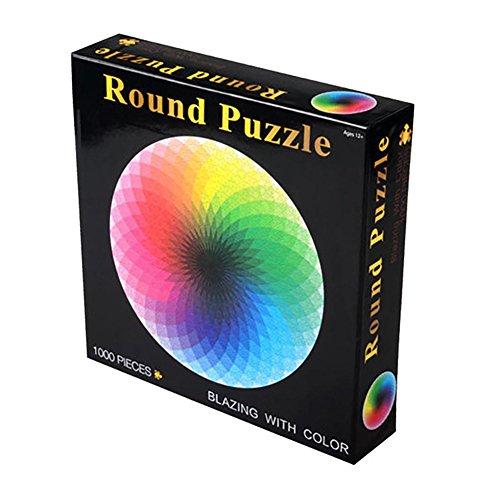 Zantec 1000pcs Bunte Regenbogen Runde Geometrische Foto Puzzle Erwachsene Kinder DIY Pädagogisches Reduzieren Stress Spielzeug Puzzle Papier - Foto Puzzle