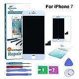 ER-ESTAVEL Kit de Réparation Ecran pour iPhone 7G 4.7', Vitre Tactile LCD Display avec Outils de Remplacement (Blanc)