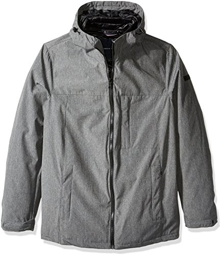 Tommy Hilfiger Men's Size Mountain Cloth 3-In-1 Systems Jacket, Heather Grey, 2X Tall