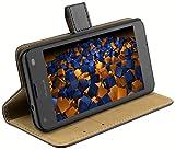 mumbi Ledertasche im Bookstyle für Microsoft Lumia 550 Tasche