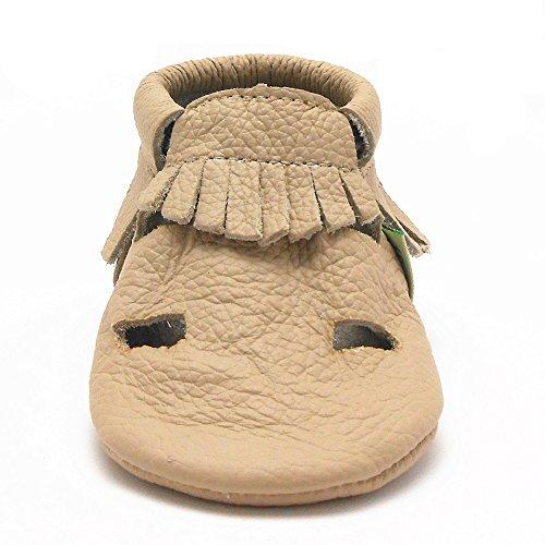Sayoyo Quasten Weiche Leder Babyschuhe Sandale Beige