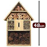 XXL Insektenhotel Insektenhaus Nistkasten Brutkasten Insekten Bienen Hotel 48 cm - 2