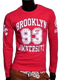 Herren Brooklyn Sweatshirt Pullover Longshirt T-Shirt Shirt