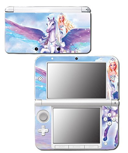 Barbie Doll Princess Unicorn Queen Tiara Video Game Vinyl Decal Skin Sticker Cover for Original Nintendo 3DS XL System by Vinyl Skin Designs