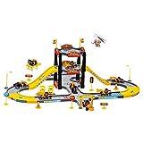 Zantec Flugzeug Autopuppe, City Construction Parking Garage Spielset mit 3 Fahrzeugen und 1 Flugzeug