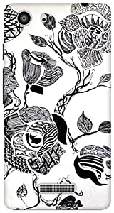 The Racoon Grip zentangle rose hard plastic printed back case / cover for Micromax Unite 3