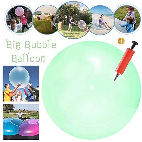 Super Wubble Bubble Ball,Inflatable Wasserball weicher,Aufblasbare Wasserball,Strand Bubble Ball,Für Strand Pool Party Supplies, Strand Spielzeug (Grün) (Aufblasbare Bälle Strand)