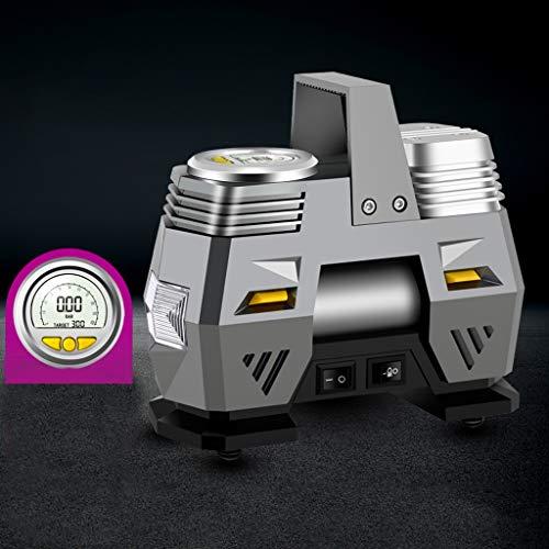 Inflator Compressore d'Aria Gonfiatore - Pompa Veicolo Elettrico 12V DC, Display Digitale Portatile Compressore d'Aria della Pompa, Luce del LED, 3 Metri LAS045 Cavo di Alimentazio
