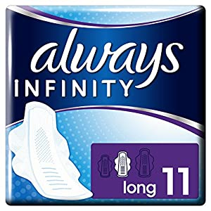 Always Infinity Long Sanitary Towels with Wings - Pack of 3