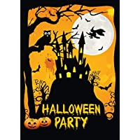 Edition Colibri, 12 Halloween invitation cards, 12 creepy, Halloween party invitations with a haunted castle and a witch