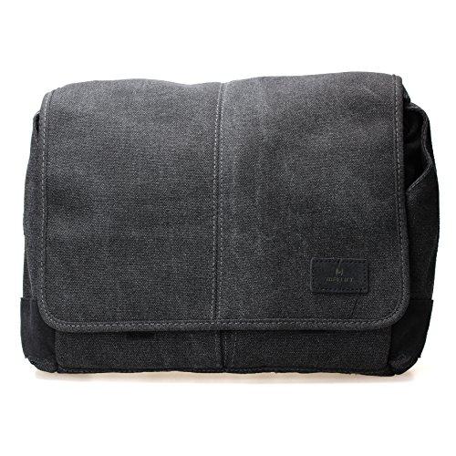 Messenger Kurze (MATIn Balade Beutel Canvas-Tasche Kamera 200aus leichte Baumwolle schwarz)