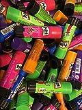 10 x Prittstifte 20g bunt unsortierte Klebesticks in lila, orange, grün, pink, neon, glitter oder andere farbige Prittstifte. Lösemittelfrei, Bastelkleber