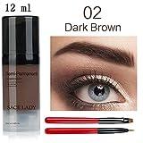 Best Henna  Kit - 6/12ml Henna Eyebrow Dye Gel Brushes Waterproof Makeup Review