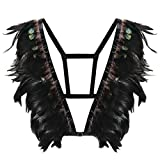Federn Harness Cage Bra Top Epauletten Schulter Burning Man Festival Wear Plus Größe