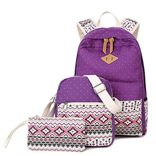 b4183eb2b426 Lace Ethnic Chic Design Backpack Rucksack Womens Vintage Style Women s bag  female Punktierter Print Backpack for
