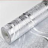 Meaosyy Luxus Folie Silber/Gold Metallic Tapete Für Wände Rolle Metall Silber Wand Papier Geometrische Gestreifte Tapete