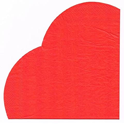 valentines day engagement wedding tableware 60 x red heart shaped napkins paper serviettes