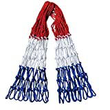 WOO-WIN 2 Pack Nets Basketball Net All Weather Anti Whip NBA Size Heavy Duty Net for Outdoor and Indoor 12 Loops