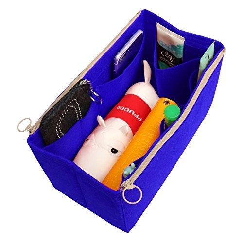 Long Blue Willow ([Passt verschiedene Taschen, L.V. Her.mes Long.champ Go.yard] Filz Tote Organizer (w / abnehmbare Reißverschluss-Tasche), Geldbörse einfügen, Kosmetik-Make-up-Windel-Handtasche, Taschen)