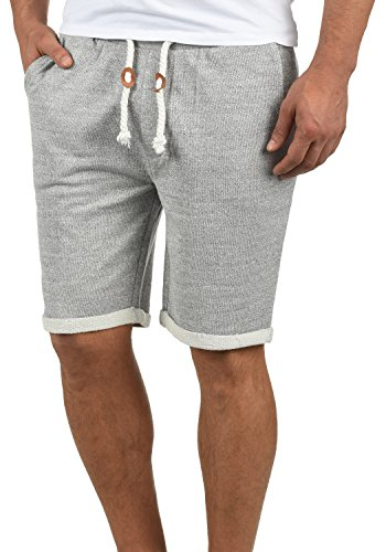 Redefined Rebel Memphis Herren Sweatshorts Kurze Hose Jogginghose Aus 100% Baumwolle Mit Kordel Regular Fit, Größe:XXL, Farbe:Light Grey