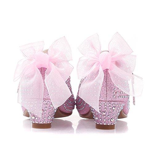 Wuyulunbi @ High Heels Robe Chaussures Chaussures Or Chaussures De Danse Papillon