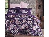 Clasy Satin Bettwäsche Set - Bettbezug-Set, 100% Baumwolle 5-Teilig Bettwäsche Set