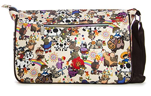 Big Handbag Shop - Sacchetto unisex Messenger 612 - Circus Jokers