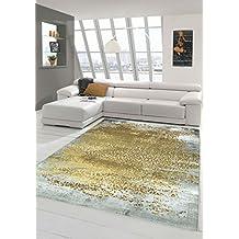 Amazon.it: tappeti moderni lana giallo