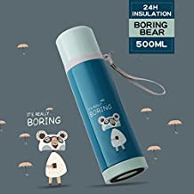 Upstyle Portable thermos Travel mug cute Couple Cats design thermos in acciaio INOX thermos Water Bottle Coffee thermos thermos, taglia 481,9 gram Boring Bear