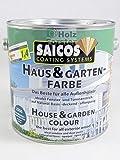 SAICOS Haus und Garten-Farbe 2838 Mahagonibraun deckend, 2,50 Liter