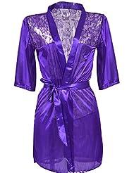 Interesting® Las mujeres atractivas de la ropa interior del cordón del satén de la muñeca de la ropa de noche de la ropa interior de la G-string
