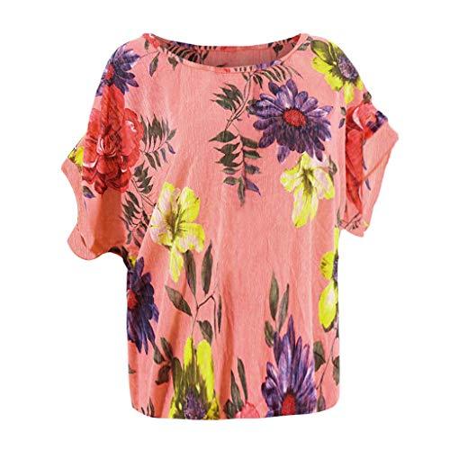 kolila Damen Lose Shirt Blusen Boho Ethnic Style Blumendruck Lässige Fledermaus Ärmel Tops Pullover Tunika - Lurex Western Shirt
