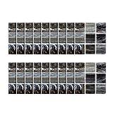 18pcs - tapeten Ziegel Stein rustikale Wirkung Wand Home Decor Selbstklebende Wasserdichte Schwarze marmor mosaik wandkunst küche Fliesen Aufkleber wandtattoos (C)