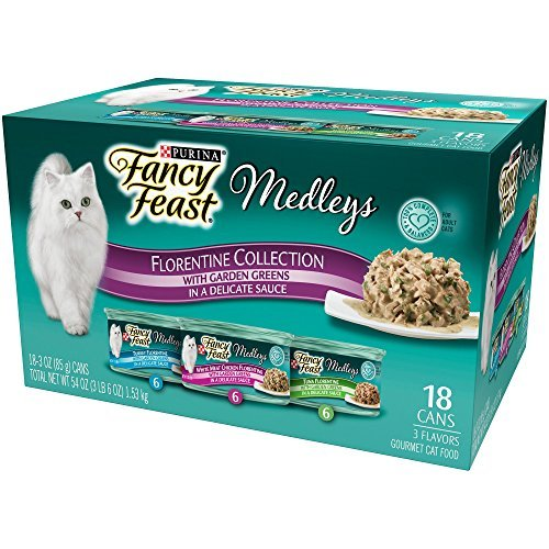 Fancy Feast Elegant Medleys Florentine Turkey, Tuna, & Chicken Recipe Variety Collection Adult Canned Cat Food, 3 oz. by Fancy Feast