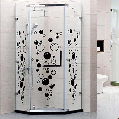 Saingace Wandaufkleber Wandtattoo Wandsticker,Bubbles Kreis entfernbare Wand Tapete Badezimmer-Fenster-Aufkleber-Abziehbild-Ausgangs DIY (Schwarz) -