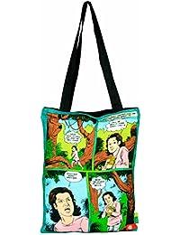 Eco Corner - Official Amar Chitra Katha Merchandise - Krishna With Cowherd- Cotton Tote Bag