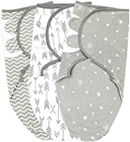 Baby Swaddle Wrap Sack for Newborn Boys and Girls | 0-3 Month| 3 Set of Adjustable Infant Swaddle Blanket with