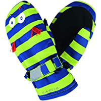 Dare 2b Look out Mitt Insulated and Waterproof Kids Winter Ski Guantes, Infantil, Electric Lime (Monster), Size 2-3