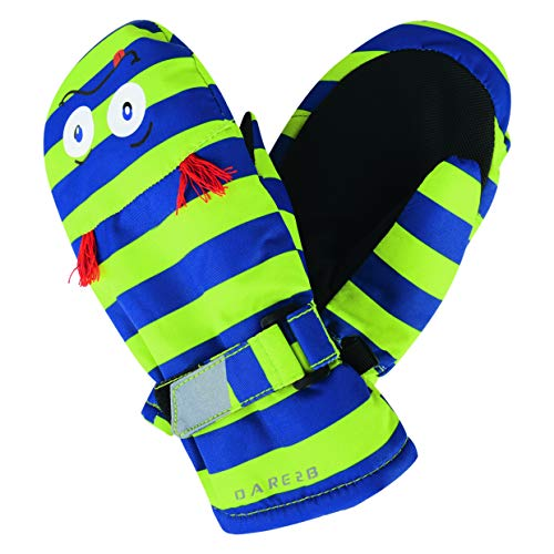 Dare 2b Kinder Look Out Mitt Insulated and Waterproof Kids Winter Ski Handschuhe, Electric Lime (Monster), Size 2-3 -