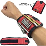 TMP Original Super Strong Adjustable Breathable Magnetic Wristband Wrist Strap for Holding Screws, Nails, Bolts, Drill Bits and Small Tools