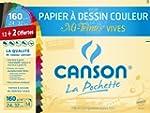 Canson 200002778 Pochette couleur 24...