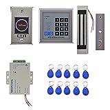 MagiDeal Tür Sicherheit Tor Eintrag Zutrittskontrollsystem Set inkl. 10 Schlüsselanhänger Netzteil RFID Türeinstieg Zugangskontrolle System