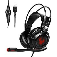 EasyAcc G1Virtual 7.1Surround Gaming Headset con función de vibración de Sonido USB, PC, PS4Gaming Auriculares