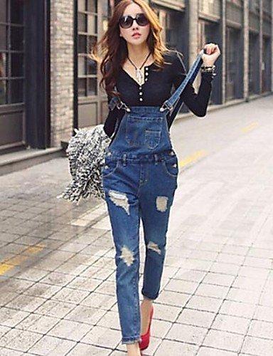 GSP-Pantalon Aux femmes Décontracté Toile de jean / Polyester dark blue-l