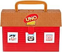 Itâ€TMs a preschool version of the worldâ€TMs beloved UNO game! In UNO MOO!, farm animals come out of their barn to play with you! Akin to the classic game, younger players round up the animals by matching their colors or types. To start, place all o...